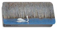 Portable Battery Charger featuring the photograph Trumpeter Swan 0967 by Michael Peychich