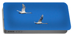 Portable Battery Charger featuring the photograph Trumpeter Swan 1727 by Michael Peychich