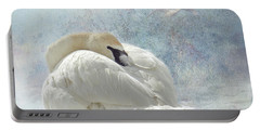 Trumpeter Textures #1 - Swan Feather Portable Battery Charger