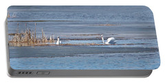 Portable Battery Charger featuring the photograph Trumpeter Swans 0933 by Michael Peychich