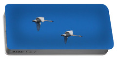 Portable Battery Charger featuring the photograph Trumpeter Swans 1725 by Michael Peychich