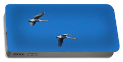 Portable Battery Charger featuring the photograph Trumpeter Swans 1726 by Michael Peychich