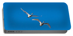 Portable Battery Charger featuring the photograph Trumpeter Swans 1735 by Michael Peychich