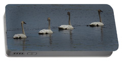 Portable Battery Charger featuring the photograph Trumpeter Swans by Sandra LaFaut