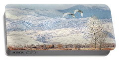 Trumpeter Swans Winter Flight Portable Battery Charger