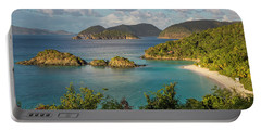 Portable Battery Charger featuring the photograph Trunk Bay Morning by Adam Romanowicz