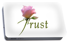 Portable Battery Charger featuring the digital art Trust by Ann Lauwers
