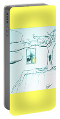 Portable Battery Charger featuring the drawing Truth by Elly Potamianos