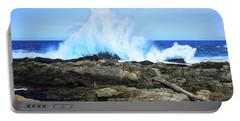 Tsitsikamma National Park Mpa Tidal Wave Splash Portable Battery Charger by Jeff at JSJ Photography