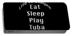 Tuba Eat Sleep Play Tuba 5519.02 Portable Battery Charger