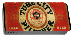 Tube City Pilsner Portable Battery Charger by Greg Sharpe