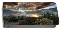 Tucson Mountain Sunset Portable Battery Charger