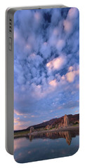 Portable Battery Charger featuring the photograph Tufa Sunrise by Sean Sarsfield