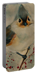 Tufted Blue Titmouse Portable Battery Charger