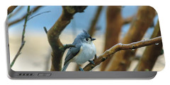 Tufted Titmouse In Tree Portable Battery Charger