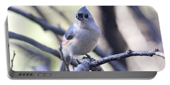 Tufted Titmouse Portable Battery Charger by Trina Ansel