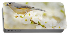 Tufted Titmouse With Seed Portable Battery Charger