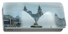 Tug Boat Fountain Portable Battery Charger
