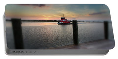 Tug Boat Sunset Portable Battery Charger