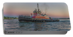 Tugboat Buckley Mcallister At Sunset Portable Battery Charger