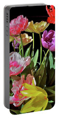 Portable Battery Charger featuring the photograph Tulip 8 by Pamela Cooper