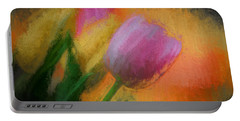 Tulip Abstraction Portable Battery Charger