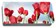 Portable Battery Charger featuring the photograph Tulip Field by Michelle Joseph-Long