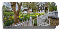 Tulip Garden Colonial Williamsburg  Portable Battery Charger