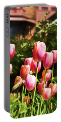 Portable Battery Charger featuring the photograph Tulip Garden by Jessica Manelis
