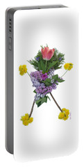 Portable Battery Charger featuring the digital art Tulip Head by Lise Winne