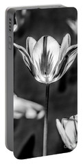 Tulip In B And W Portable Battery Charger