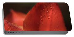 Tulip Petals After A Rain-3807 Portable Battery Charger