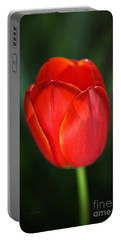 Tulip Red With A Hint Of Yellow Portable Battery Charger