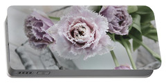 Portable Battery Charger featuring the photograph Tulip Ruffles by Kim Hojnacki