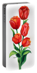 Tulip Time Portable Battery Charger by Barbara Jewell