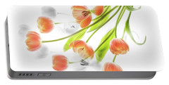 A Creative Presentation Of A Bouquet Of Tulips. Portable Battery Charger
