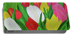 Tulips 2 Portable Battery Charger by Magdalena Frohnsdorff