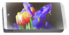 Tulips And Iris Portable Battery Charger