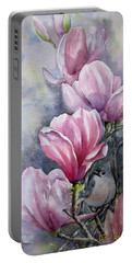 Tulips And Titmouse Portable Battery Charger
