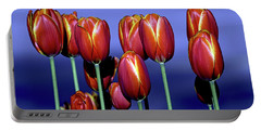 Tulips At Attention Portable Battery Charger