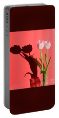 Tulips Casting Shadows Portable Battery Charger