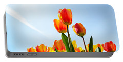 Tulips From A Low Point Of View Portable Battery Charger
