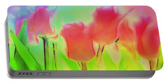 Tulips In Abstract 2 Portable Battery Charger
