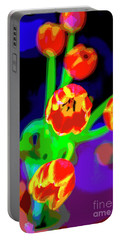 Tulips In Abstract Portable Battery Charger
