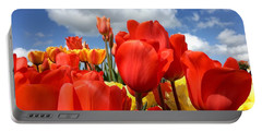 Tulips In The Sky Portable Battery Charger