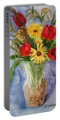 Tulips In Vase Portable Battery Charger by Marna Edwards Flavell