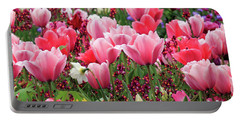 Portable Battery Charger featuring the photograph Tulips by James Eddy