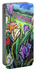 Tulips Portable Battery Charger by Jodie Marie Anne Richardson Traugott          aka jm-ART