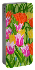 Tulips Portable Battery Charger by Magdalena Frohnsdorff