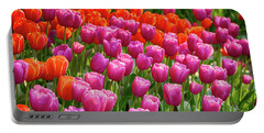 Portable Battery Charger featuring the photograph Tulips Mean Spring by Mary Jo Allen